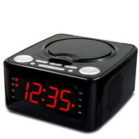 Home cd mp3 disc player usb music alarm clock bluetooth speaker portable FM radio repeat play learning machine sound AUX input