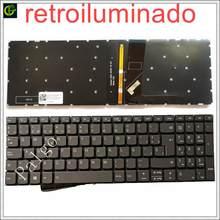 Espanhol backlit teclado para lenovo ideapad s145 15 15iwl s145-15iwl v145-15ast v145 luz portátil latin sp la