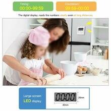 Большой таймер Цифровые кухонные часы с ЖК дисплеем