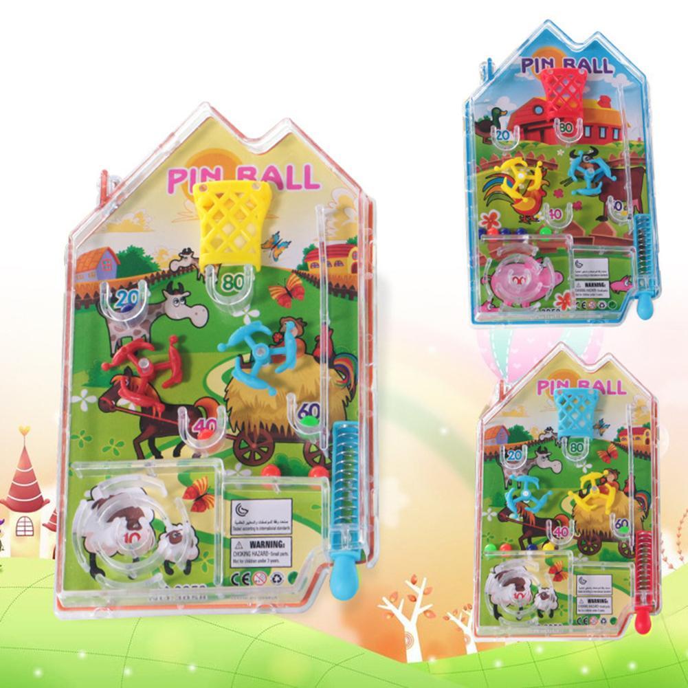 Classic Mini Cartoon Maze House Pin Ball Shooting Game Anti-Stress Education Toy Fun Brain Game Challenge Fidget Toys
