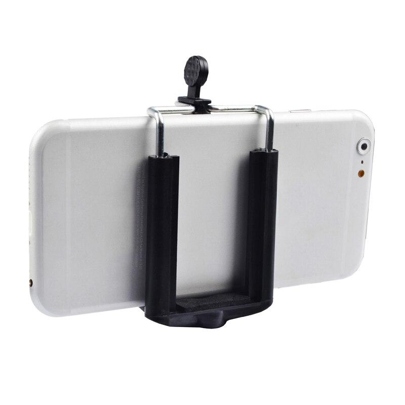 Black ABS Phone Holder For Shell Anti-slip Universal Thread Double Spring Phone Bracket Clip For Mobile Phone