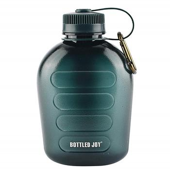 1L Army Green Plastic Sports Water Bottle Survival Kitchen And Home Kettle Outdoor Sports Water Bottle 1