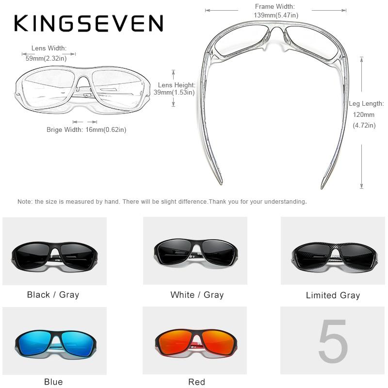 KINGSEVEN Ultralight Frame Polarized Sunglasses Men Fashion New Sports Style Square Sun Glasses Male Outdoor Travel UV Goggles 3