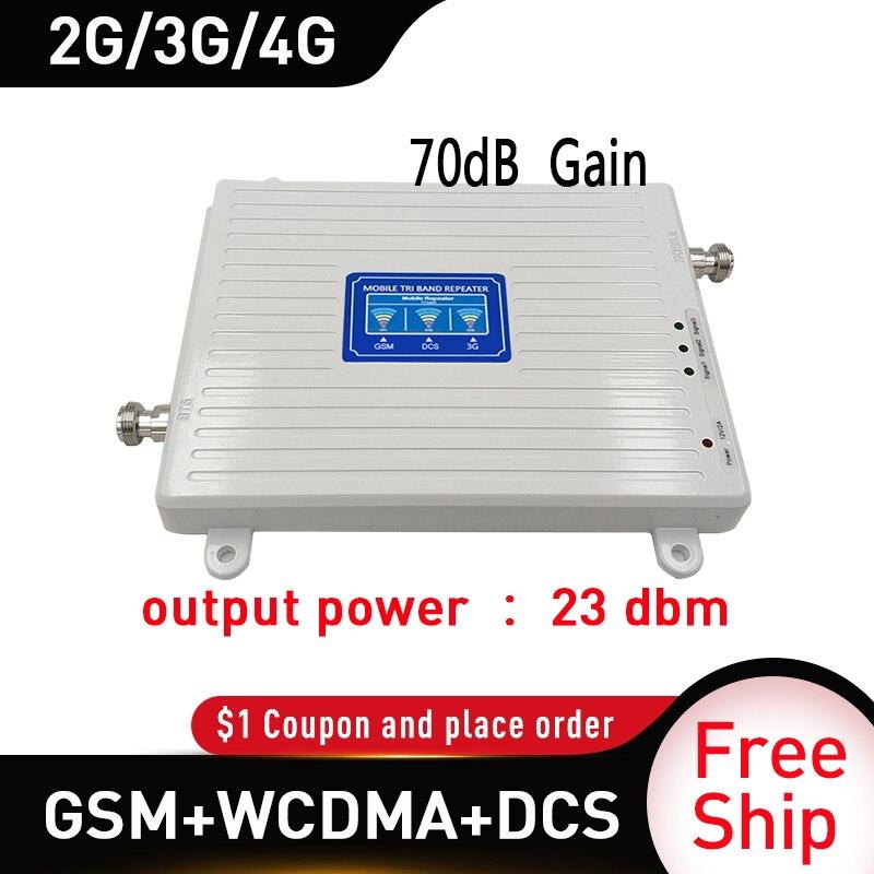 900 1800 2100mhz amplificateur Mobile triple bande répéteur GSM 4G répéteur DCS WCDMA 2G 3G 4G répéteur LTE amplificateur de Signal cellulaire - 2
