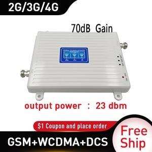 Image 2 - AMPLIFICADOR DE señal móvil Gain70 4g, repetidor celular GSM, 900/1800/2100MHZ, GSM, DCS, WCDMA, 4G, booster 2G, 3G, 4g