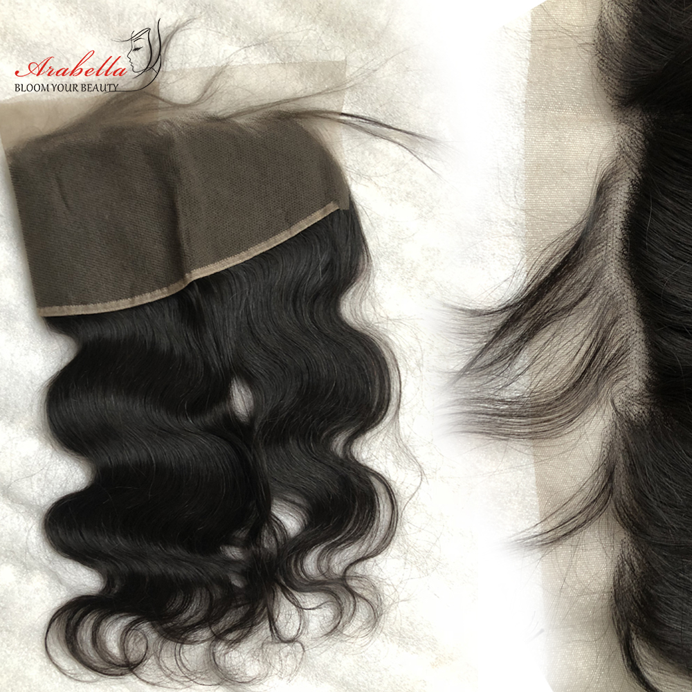 Body Wave 13x4 Transparent Lace Frontal   Arabella PrePlucked Bleached Knots Lace Frontal With Baby Hair 5