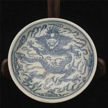 цена на China Old Hand-painted Blue-and-white Pottery Porcelain Chinese Food Plates