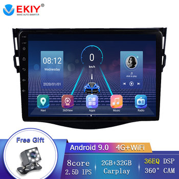 EKIY 9 IPS Car Multimedia Players For Toyota RAV4 Rav 4 2007-2011 Android 9.0 with 360 Camera DVD Autoradio DSP ADAS RDS TMPS image