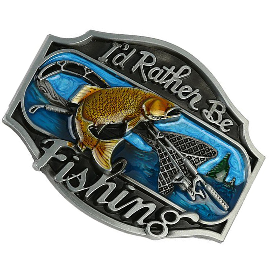 Belt Buckle Flying Fish  Hot Sale Western Popular Buckle Exquisite Pattern Fisherman Suitable For A Belt Width Of 3.6-3.9cm