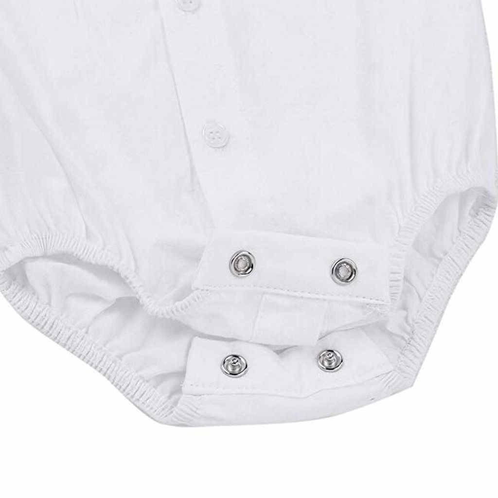 Recién Nacido bebé niño Formal mono camisas Caballero boda fiesta trajes brillante cómodo vivo recién nacido mono