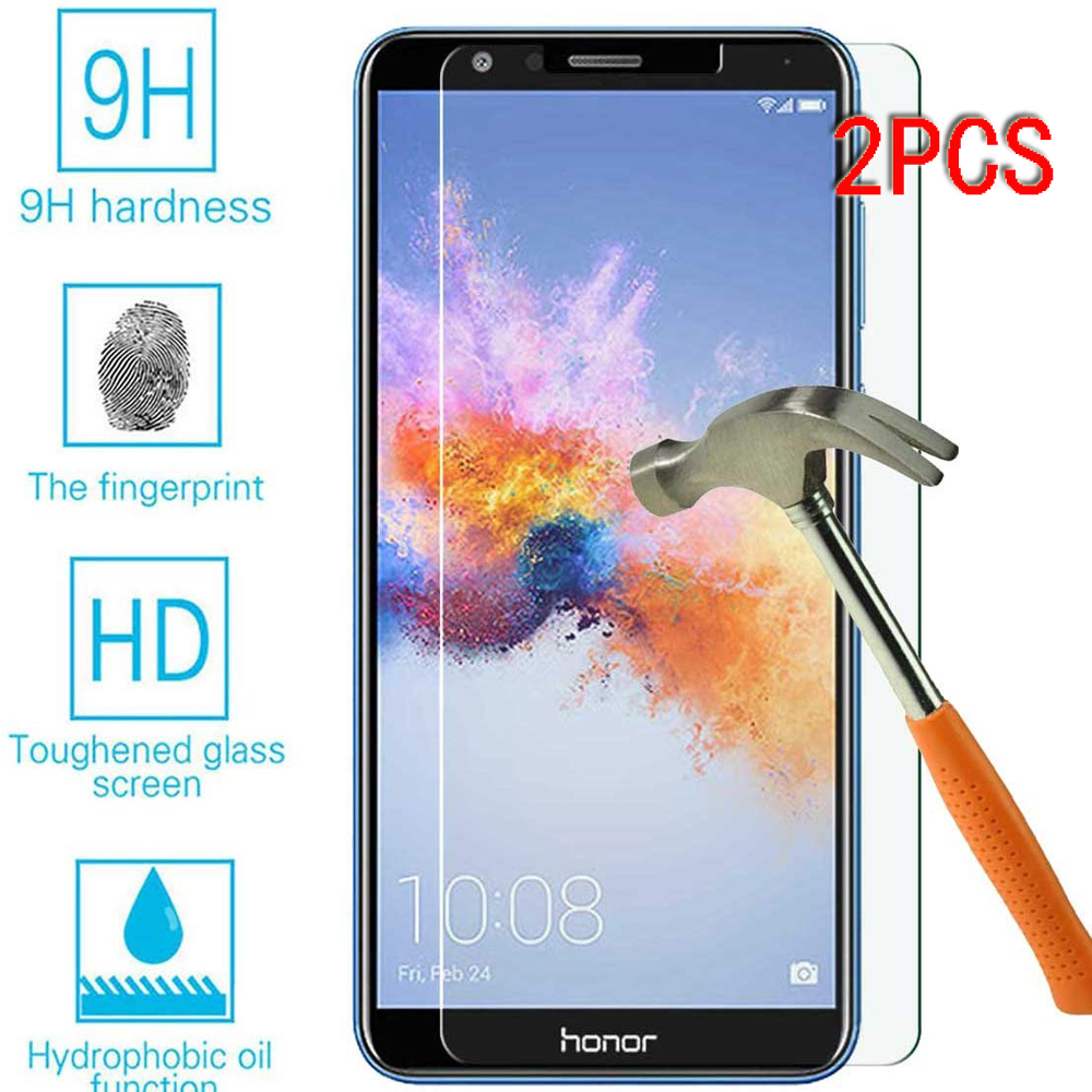 2PCS Protective Tempered Glass On The For Huawei Honor 7A Pro 7X 7C Honor7a Honor7c Honor7x 9H HD Glass Screen Protector Film