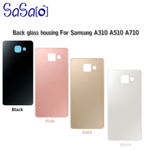 50pcs A3 A5 A7 2016 Back Glass Cover Replacement part For Samsung Galaxy A310 A510 A5100 A710 Battery Housing Door With Sticker