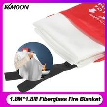1.8M x 1.8M Fire Blanket Fiberglass Fire Flame Retardant Emergency Survival Fire Shelter Safety Cover Fire Emergency Blanket