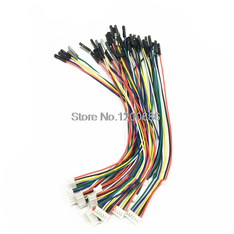 24AWG 300MM PH2.0 Pitch 2P/3P/4P/5P/6P Pin Female Single Dupont 2.54 Harness Cable 2.0MM Pitch Double Head Customization Made