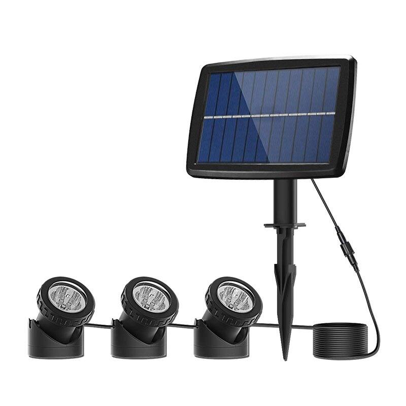 Işıklar ve Aydınlatma'ten LED Sualtı Lambaları'de Binval Güneş led sualtı ışıkları Gölet Işık Peyzaj Spot IP68 Su Geçirmez Denizaltı projektör ışık Gölet Bahçe için Çim title=