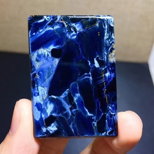 Top Natural Blue Pietersite Pendant Rectangle Chatoyant Newly Healing Gemstone 48x33x5mm Women Men Reiki Stone AAAAA