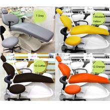 Pokrowiec na fotel dentystyczny pokrowiec na narzędzia dentystyczne pokrowce na wodoszczelne pokrowce na siedzenia łatwe do czyszczenia łatwe sterylizacja A klasa jakości 12 kolorów pokrowce na siedzenia tanie tanio Umiarkowane Wybielanie zębów Dental Unit dental chair cover Protector Cusion 4 pieces(chair seat backrest headrest) TOP TUP