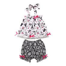 Комплект для маленьких девочек aa 2020 летняя одежда топ с Парижской