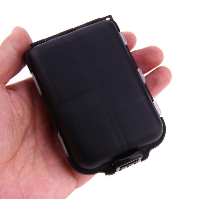 10 siatki medycyna pojemnik na pigułki Case biżuteria uchwyt na kolczyk Organizer Case tygodniowy apteczka akcesoria domowe pojemnik