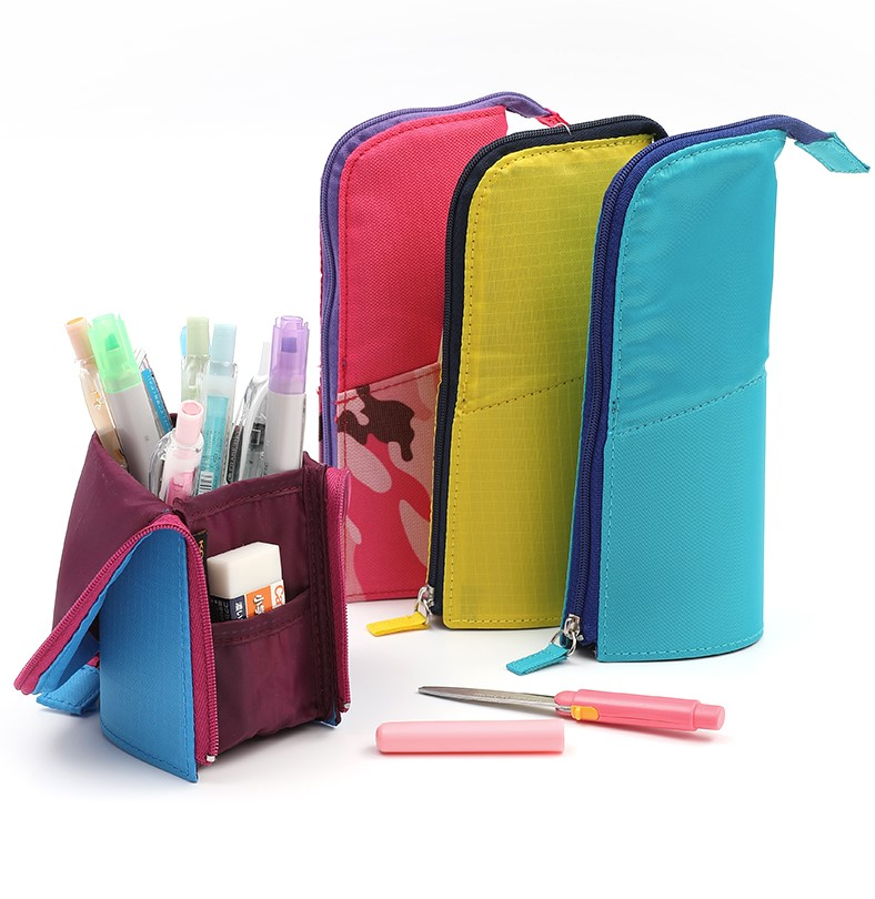 KOKUYO Multifunction High Capacity Deformable Pencil Case Simple Original Vertical Student Stationery Storage Pen Holder