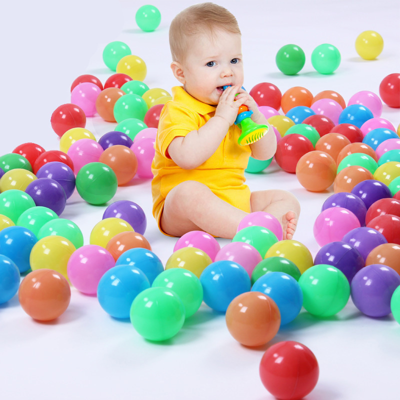 10pcs Thickened Baby Ocean Balls Toys For Play Dry Pool Soft Plastic Non-toxic Explosion-proof 5.5cm Bobo Ball Toy Random Color