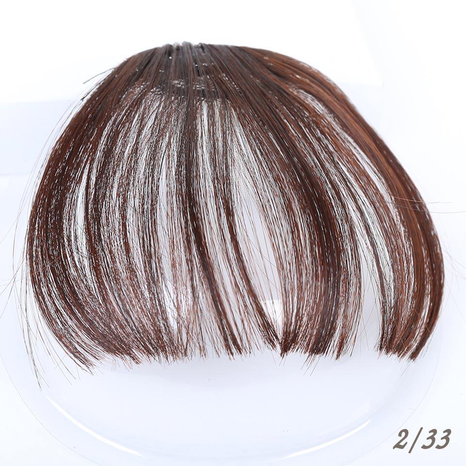 Манвэй, накладные волосы на заколках, накладные волосы с бахромой для женщин, заколки для волос с челкой, синтетические воздушные челки - Цвет: T4/27/30