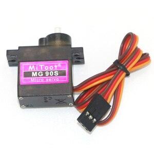Image 4 - 4 teile/los Mitoot MG90S 9g Metall Getriebe Verbesserte SG90 Digital Micro Servos für Smart Fahrzeug Hubschrauber Boart Auto