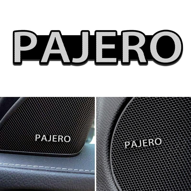 4 Stuks Auto Styling Audio Versieren 3D Aluminium Badge Emblem Sticker Voor Mitsubishi Pajero Lancer Asx Outlander Galant Accessoires