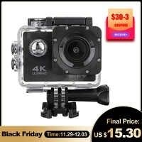 Action Kamera Ultra HD 4K 30fps WiFi 2,0 170D Unterwasser Wasserdichte Helm Video Aufnahme Kamera Sport Cam