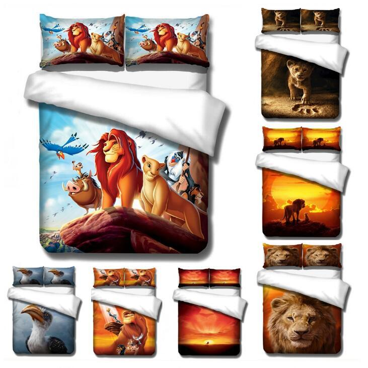 Disney The Lion King Simba Bedding Set Cartoon Boy Bed Linens Single Twin Size  Duvet/comforter Cover Kids Teen Bedspreads Gifts