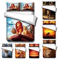 disney The Lion King Simba bedding set cartoon boy bed linens single twin size duvet/comforter cover kids teen bedspreads gifts