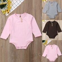 0-18M Unisex Baby Bodysuit Long Sleeve Baby Girls Bodysuit P