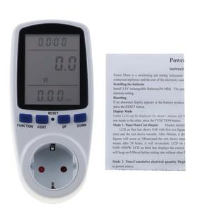 Image 5 - Kebidu 230V AC כוח מטרים שקע דיגיטלי מתח Wattmeter צריכת חשמל ואט אנרגיה מד חשמל Analyzer צג האיחוד האירופי
