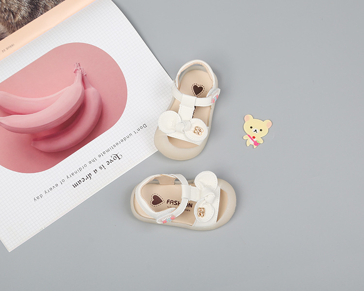DIMI 2020 New Summer Baby Girls Shoes Cute Bow Girl Toddler Princess Sandals Closed toe Soft Pu Leather Infant Shoes for Girl