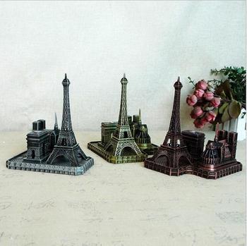 Paryż pamiątka turystyczna metalowe Notre Dame się widok na łuk triumfalny i wieża połączenie model budynku kościoła zdjęcie rekwizytu prezent tanie i dobre opinie lyybx Piramida Imitacja starego przedmiotu