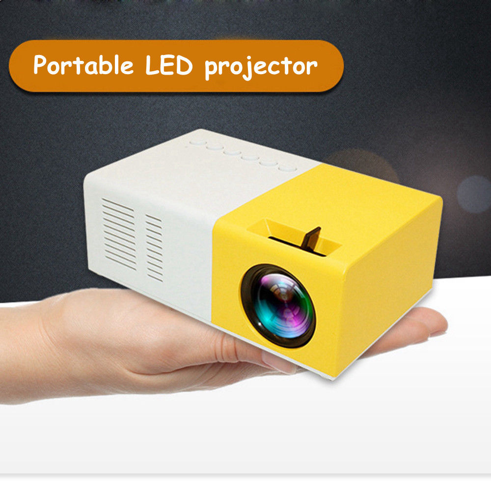 Portable J9 1080P Mini Projector Home Theater Cinema Multimedia With Accessorices VGA Cable USB HDMI