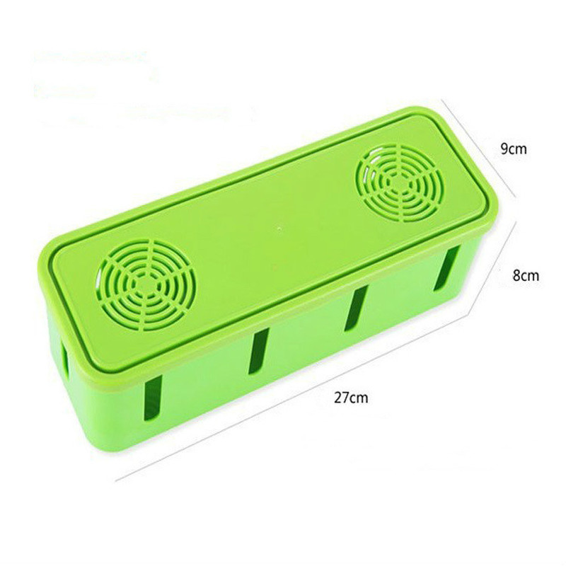Socket Received Case Safety Dustproof Power Cord Manager Office Home Organizer