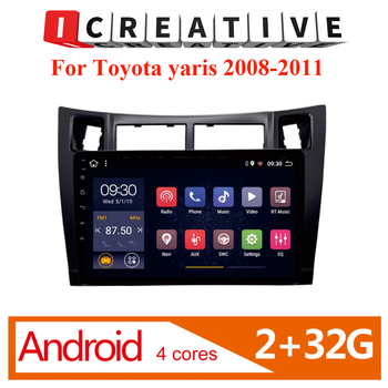 Icreative 2 din  Car Radio Multimedia Video Player  Android Navigation GPS FM For toyota yaris 2008 2009 2010 2011