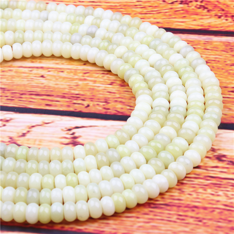 Yellow Lemon Jade Natural Gem 4X6/5X8MM Abacus Bead Spacer Bead Wheel Bead Accessory For Jewelry Making Diy Bracelet Necklace