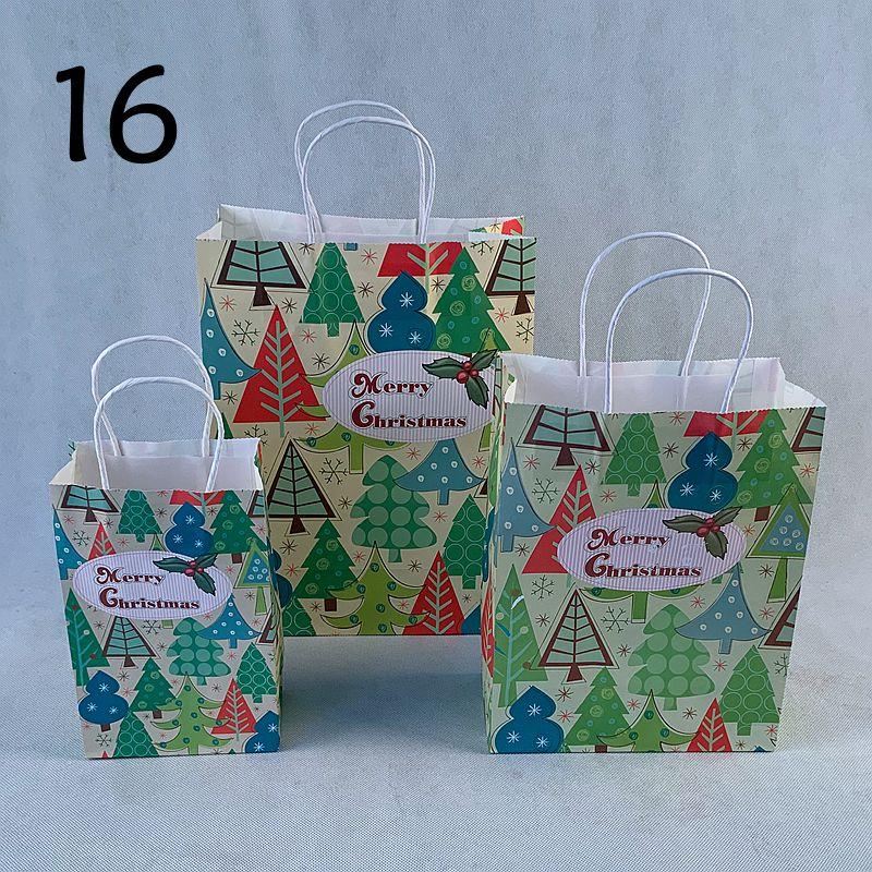 30 pclote novos sacos de presente do festival do papel de embalagem do natal