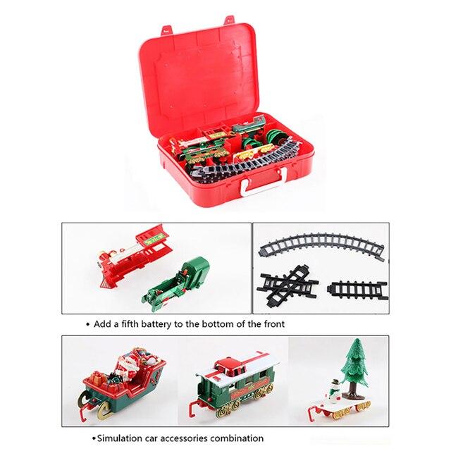 Christmas Electric Rail Car Train Toy Children's Electric Toy Railway Train Set Racing Road Transportation Building Toys 282539 2