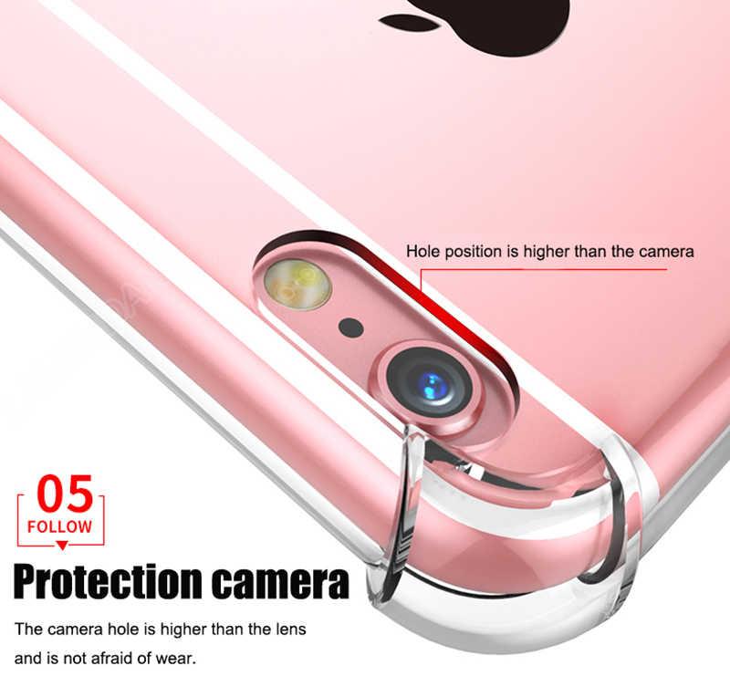 TPU suave transparente iPhone Caso 11 Pro MAX 2019 X XR X 6 7 7 6 6S Plus 5 SE 5S de la cáscara del teléfono de silicona cubre Coque Capa