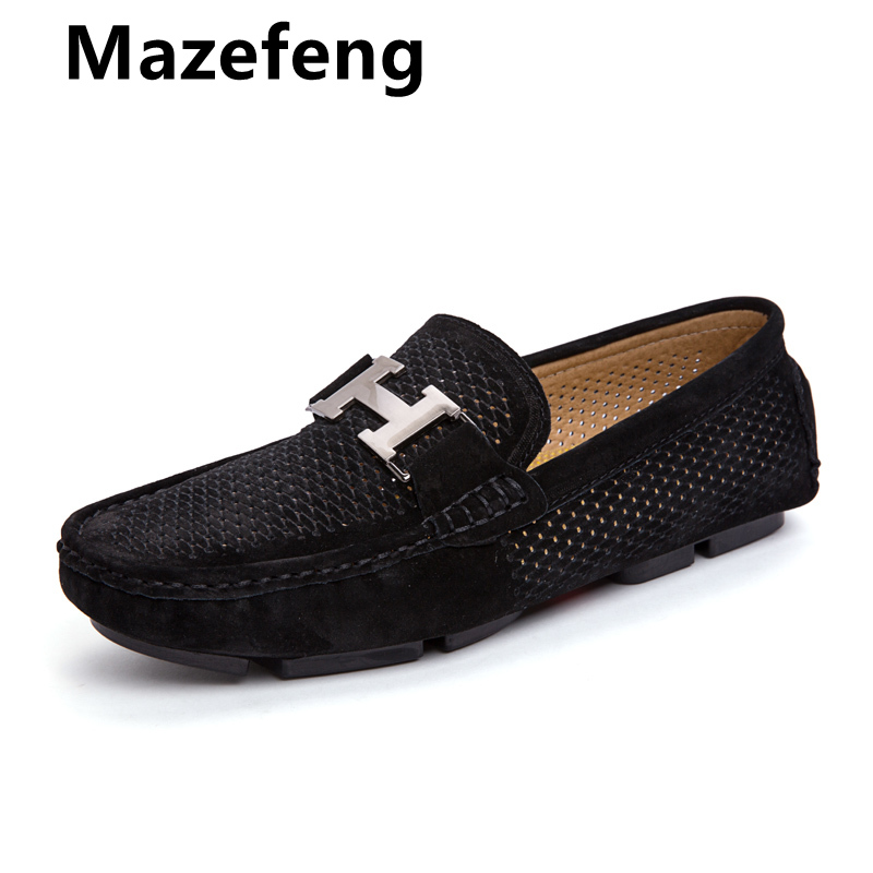 Mocassin Homme De Luxe Casual Loafers Men Shoes Breathable Footwear Fashion Male Shoes Slip On Men's Loafer Plus Size 45 Black