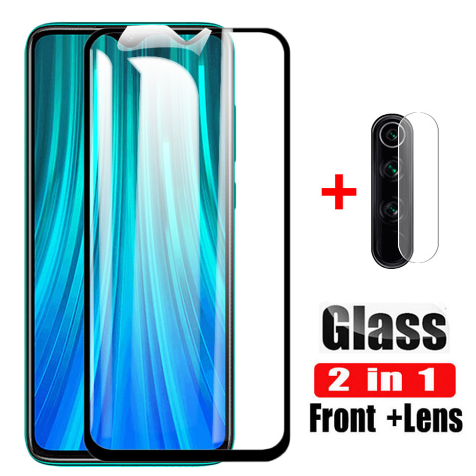 2-in-1 <font><b>Camera</b></font> Glass xaomi a3 <font><b>Mi</b></font> 9lite <font><b>Mi</b></font> <font><b>9T</b></font> <font><b>mi</b></font> 9 t Redmi note7 Note 8 pro 8t Tempered Glass on Redmi a8 7a Screen <font><b>Protector</b></font> Film image