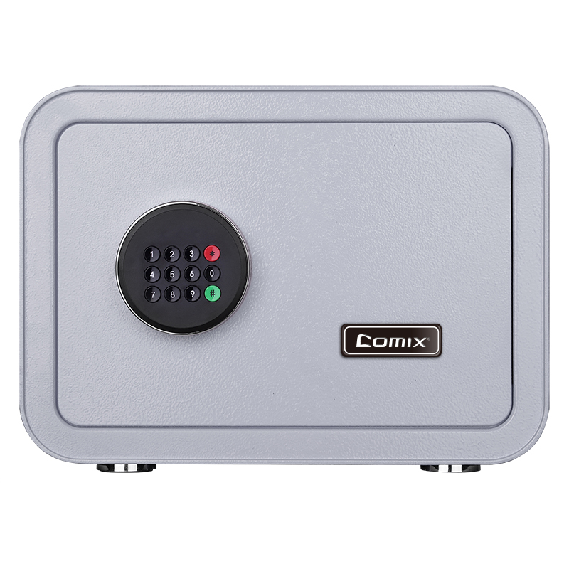 Comix  Digital Security Safe Box And Lock Box Money Box Strongbox Solid Steel Electronic Safe Box With Digital Keypad 25x35x28cm