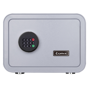 Comix Digital Security Safe Box and Lock Box Money Box Strongbox Solid Steel Electronic Safe Box With Digital Keypad 25x35x28cm(China)