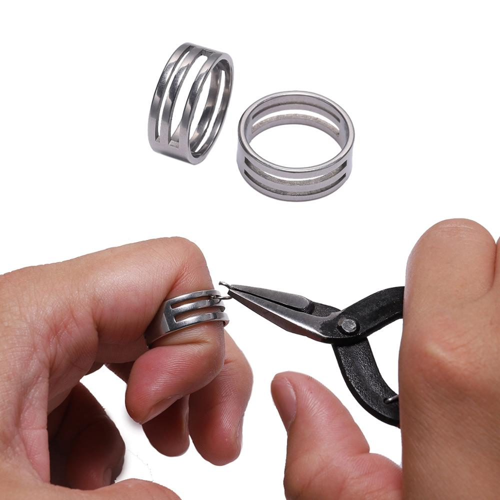 1pcs Stainless Steel Jump Ring Open Closing  Finger Jewelry Making Tools Fit DIY Craft Circle Bead Pliers Opening Helper Tools