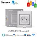 SONOFF S55 Wifi Smart Steckdose IP55 Wasserdichte Steckdose Smart Home Control Über Ewelink APP Arbeit Mit Alexa Google Hause IFTTT