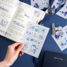 Mohamm sen gwiazdy naklejki z serii codziennego życia papier do notatnika Deco dziewczyna moda stacjonarne naklejki Scrapbooking tanie tanio CN (pochodzenie) TZ425 6 lat Sticker 10cm*15cm