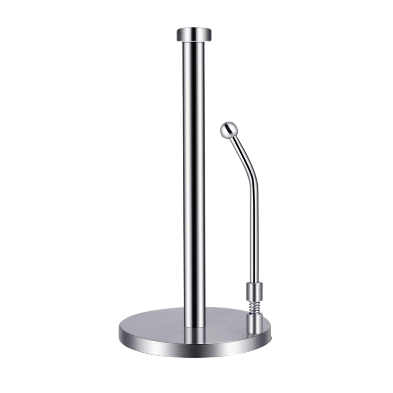 Paper Towel Holder Stainless Steel Standing Tissue Holder One-Handed Tear, Perfect Modern Design For Kitchen Keeps Kitchens Coun